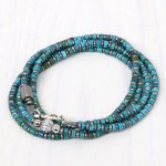 hobo『Turquoise Bracelet with Silver Ball Beads』