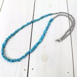 hobo『Turquoise Necklace with Brass Coated Beads』