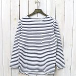 CURLY『BRIGHT BORDER LS TEE』(WHITE/NAVY)