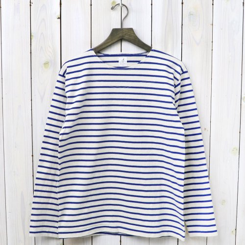 『MARNIER CREW NECK TEE L/S』(Natural/Royal)