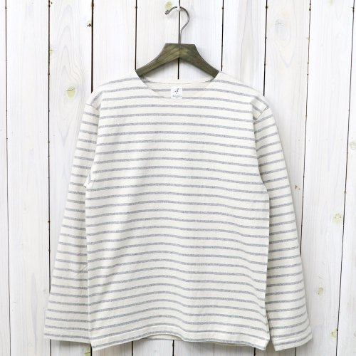 『MARNIER CREW NECK TEE L/S』(Natural/Gray)