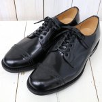 SANDERS『Military Punched Cap Derby Shoe』(Black)