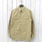 SASSAFRAS『BOTANICAL SCOUT APRON SHIRT(LIGHT WEST POINT)』(BEIGE)