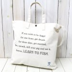 SOUTH2 WEST8『Grocery Bag-Leam to Fish/Fishing Life』(White)