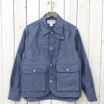SASSAFRAS『PLANT HUNTER JACKET(6.5oz CHAMBRAY)』(BLUE)