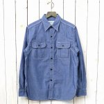 SASSAFRAS『WILD MASHROOM SHIRT(5oz CHAMBRAY)』(BLUE)