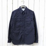 SASSAFRAS『WILD MASHROOM SHIRT(OXFORD)』(NAVY)