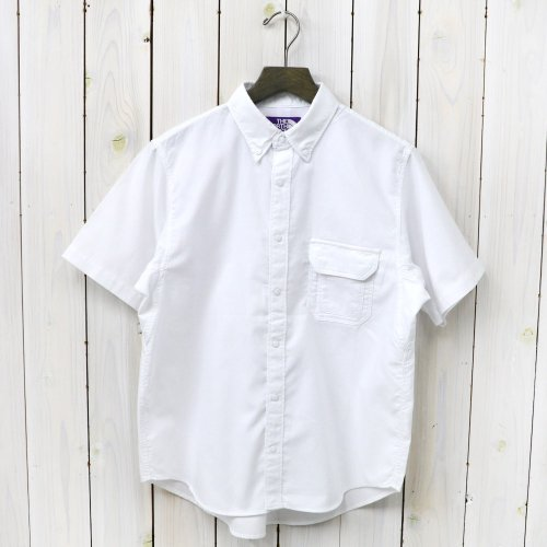 THE NORTH FACE PURPLE LABEL『Cotton Polyester OX B.D H/S Shirt』(White)