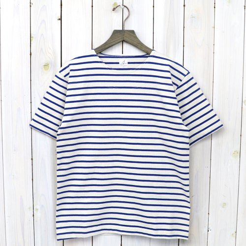 ANATOMICA『MARNIER CREW NECK TEE S/S』(Natural/Royal)