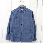 SASSAFRAS『FEEL SUN SHIRT(6.5oz CHAMBRAY)』(BLUE)