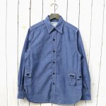 SASSAFRAS『G.D.U. SHIRT(5oz CHAMBRAY)』(BLUE)