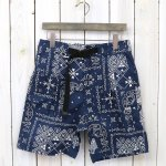 WILDTHINGS『BANDANA ROAD SHORTS』(NAVY)
