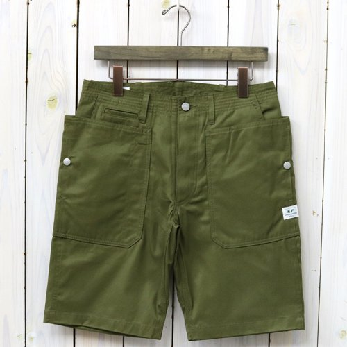 『FALL LEAF SPRAYER PANTS 1/2(GABARDINE)』(OLIVE)