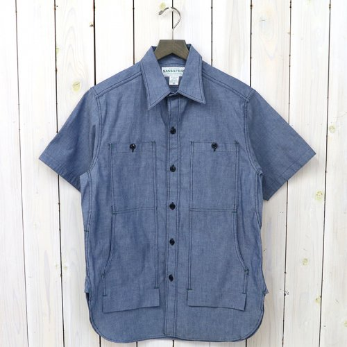 SASSAFRAS『FEEL SUN SHIRT 1/2(5oz CHAMBRAY)』(BLUE)