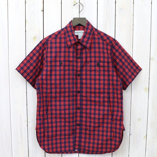 SASSAFRAS『FEEL SUN SHIRT 1/2(BROAD)』(RED)