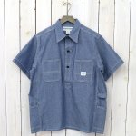 SASSAFRAS『GARDENER SHELL HALF 1/2(5oz CHAMBRAY)』(BLUE)