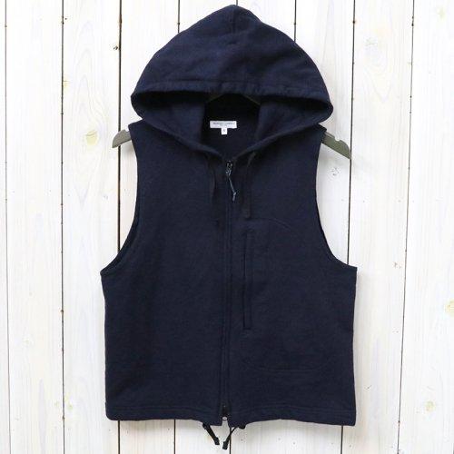 【会員様限定SALE】ENGINEERED GARMENTS『Knit Hoody Vest-French Terry』(Dk.Navy)