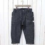 SASSAFRAS『FALL LEAF GARDENER PANTS 2/3(8oz DENIM)』(BLACK)
