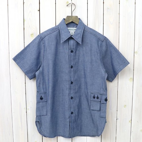 『G.D.U. SHIRT 1/2(5oz CHAMBRAY))』(BLUE)
