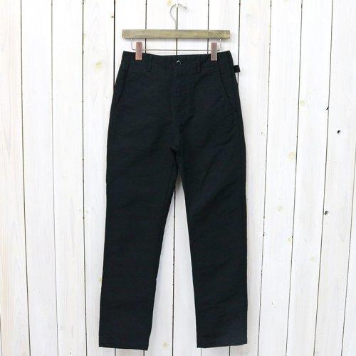 『Ground Pant-Cotton Double Cloth』(Black)