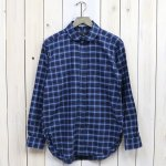 ENGINEERED GARMENTS『Rounded Collar Shirt Combo-Plaid Flannel』(Navy/Lt.Blue)