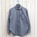 ENGINEERED GARMENTS『Rounded Collar Shirt Combo-Plaid Flannel』(Grey/White/Blue)