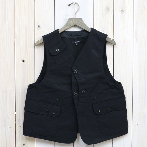 ENGINEERED GARMENTS『Upland Vest-Cotton Double Cloth』(Black)