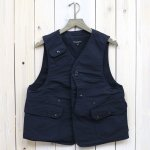 ENGINEERED GARMENTS『Upland Vest-Cotton Double Cloth』(Dk.Navy)