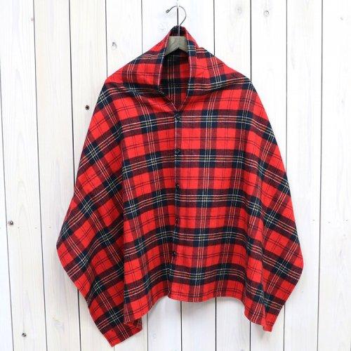 『Button Shawl-Plaid Flannel』(Red/Black)