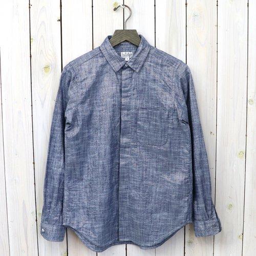 『Short Collar Shirt-Lurex Chambray』