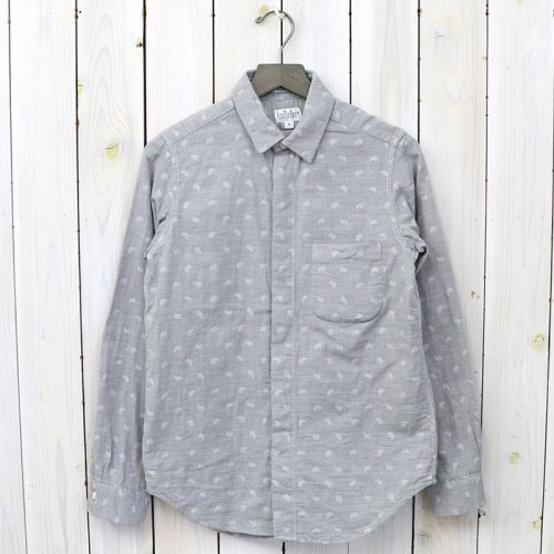 『Short Collar Shirt-H.Grey Double Gauze』(Paisley)