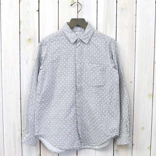 『Short Collar Shirt-H.Grey Double Gauze』(Polka Dot)