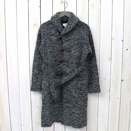 『Shawl Collar Knit Jacket-Boucle』(Grey)
