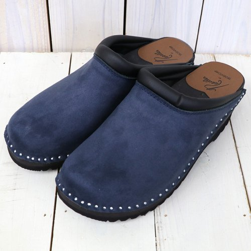 『Swedish Clog-Plain Toe/Suede』(Navy)