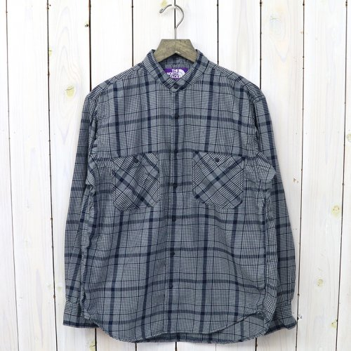 『Band Collar Twill Shirt』(Navy)