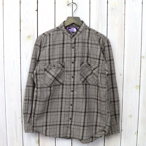 【SALE特価40%off】THE NORTH FACE PURPLE LABEL『Band Collar Twill Shirt』(Brown)