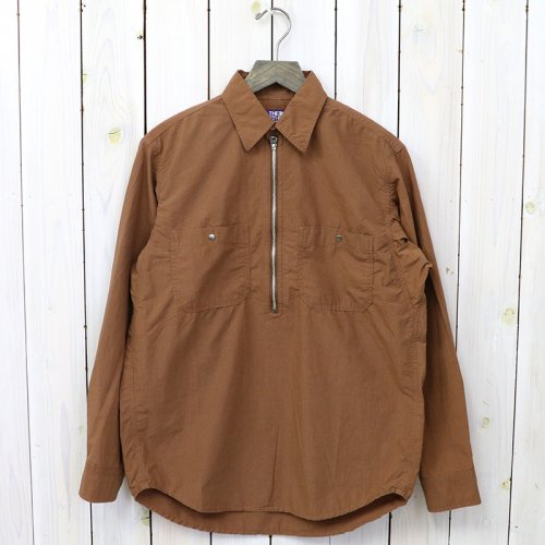『Zip Up Pullover Shirt』(Brown)