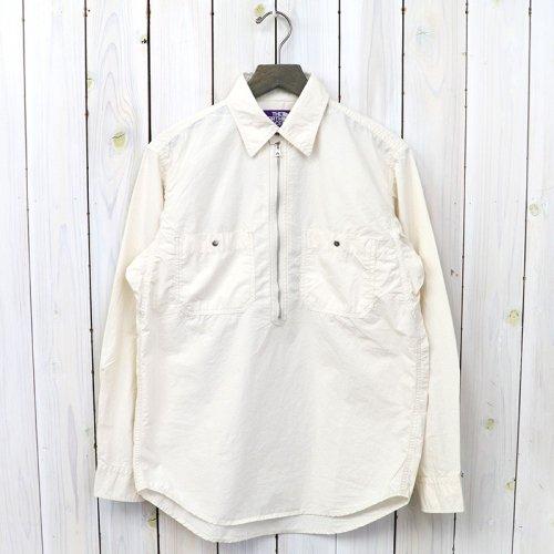 『Zip Up Pullover Shirt』(Ecru)