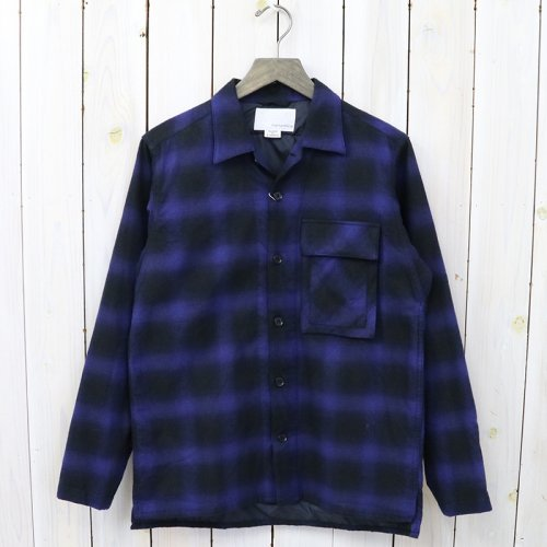『Shirt Jacket』(Blue/Black)