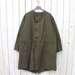 orSlow『NO COLLAR COAT』(ARMY)