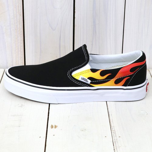 VANS『CLASSIC SLIP-ON』((FLAME)BLACK/BLACK/TRUE WHITE)