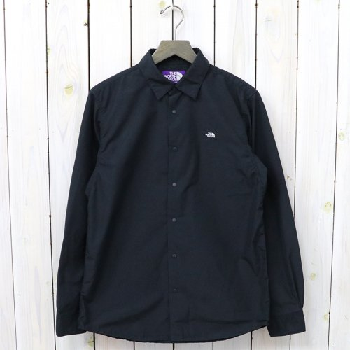 『Cotton Polyester Typewriter Shirt』(Black)