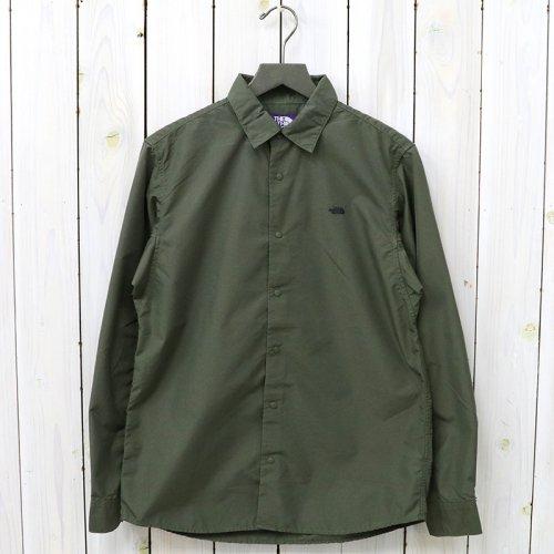 『Cotton Polyester Typewriter Shirt』(Khaki)