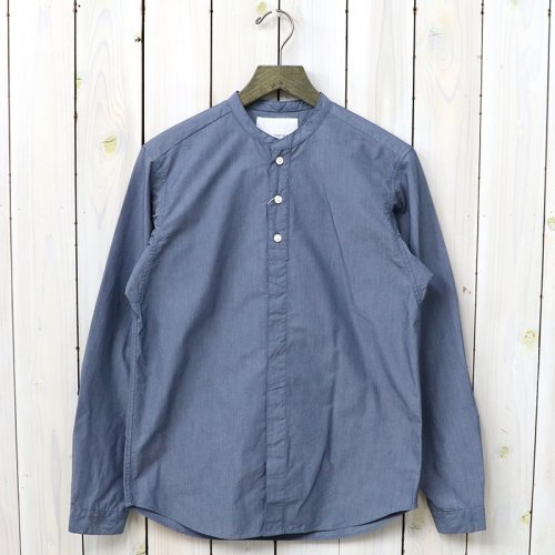 『Band Collar Wind Shirt』(Blue)