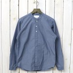 nanamica『Band Collar Wind Shirt』(Blue)