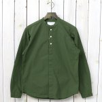 nanamica『Band Collar Wind Shirt』(Khaki)