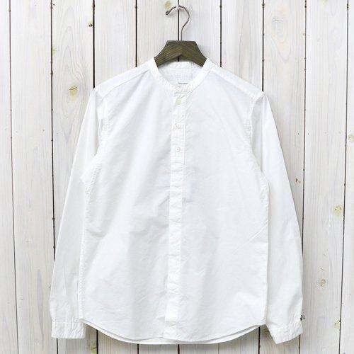 『Band Collar Wind Shirt』(White)