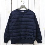 nanamica『DownCrew Neck Sweater』(Navy)