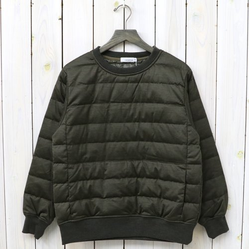 【SALE特価60%off】nanamica『DownCrew Neck Sweater』(Khaki)