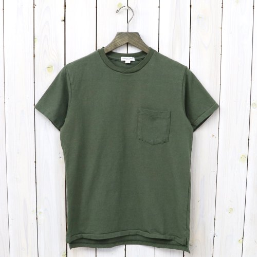 『Crossover Neck Pocket Tee-Mens』(Olive)